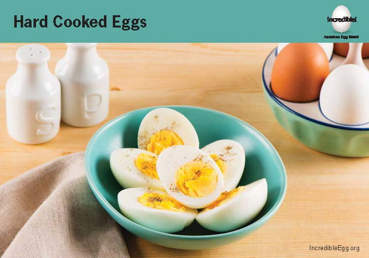 Hard Cooked Eggs Recipe Cards