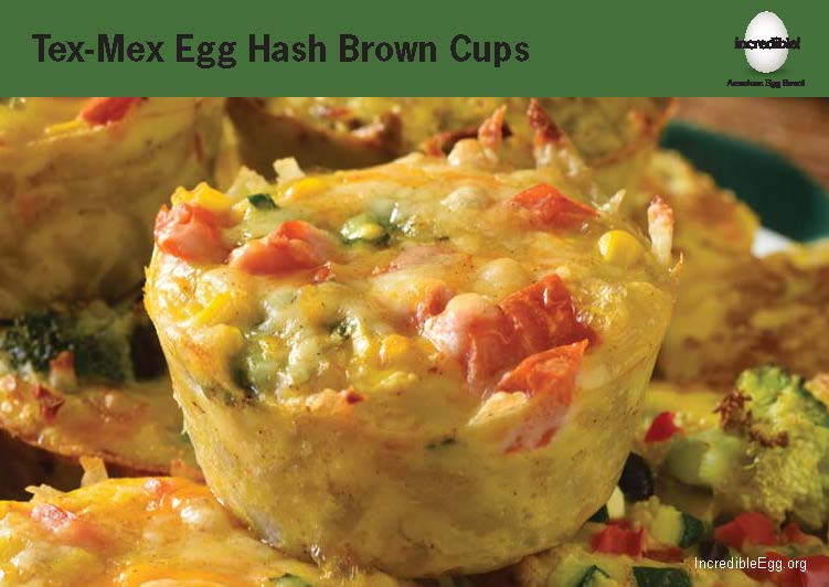Tex-Mex Egg Hash Brown Cups Recipe Cards