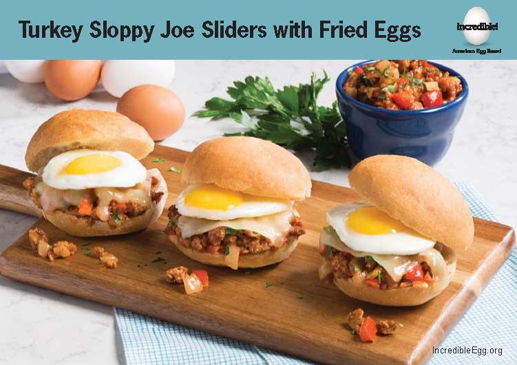 Turkey Sloppy Joe Sliders Recipe Cards