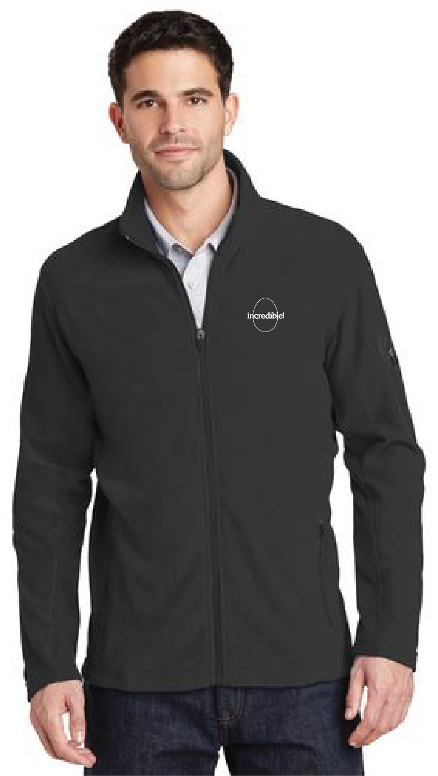 Men's Full-Zip Fleece Jacket (Black)